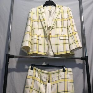 Veronica Beard Plaid Dickey Jacket/Shorts Size 12